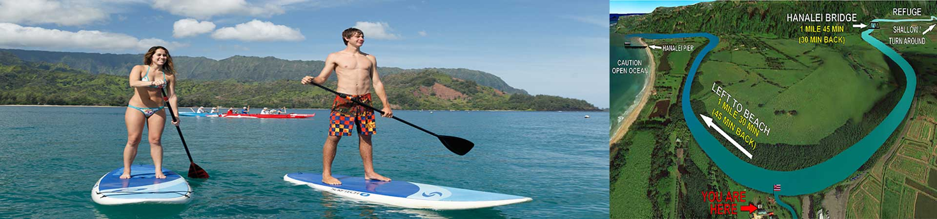 Stand Up Paddle the Hanalei Bay