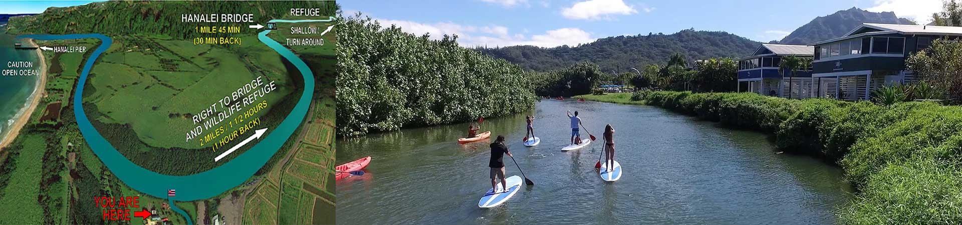 Wildlife Refuge SUP Route - Kayak Hanalei
