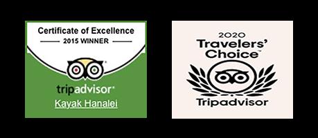 Kayak Hanalei TripAdvisor Awards
