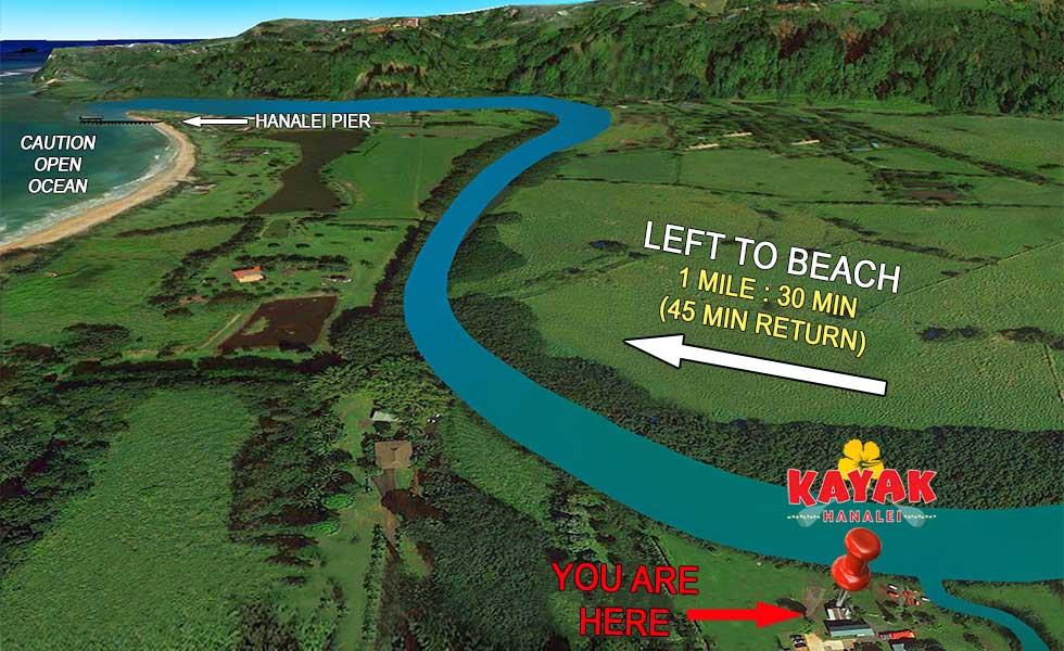 Self-guided SUP Rental Wildlife Refuge Map